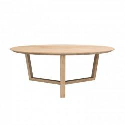 Ethnicraft Oak Tripod Coffee Table 96cm