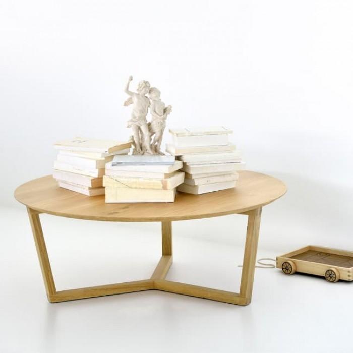 Ethnicraft Oak Tripod Coffee Table 96cm-50530