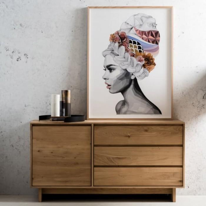 Ethnicraft Oak Wave sideboard – 1 door / 3 drawers 148/46/77-51450