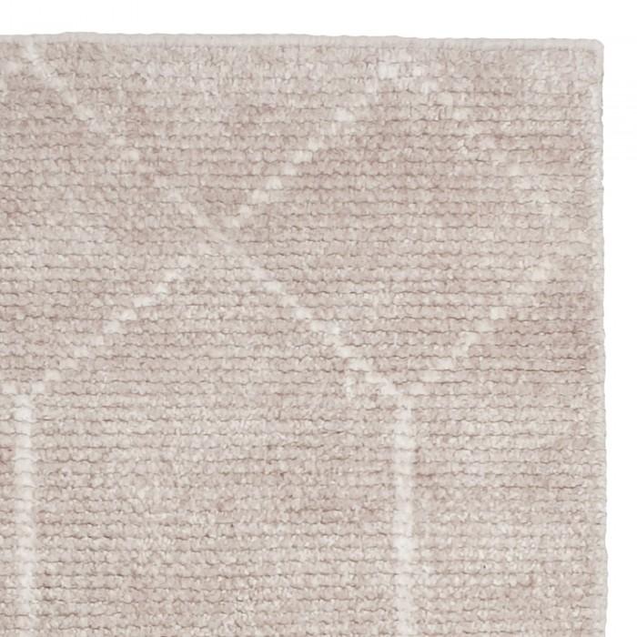 Geometric Wool & Viscose Silver 350x450