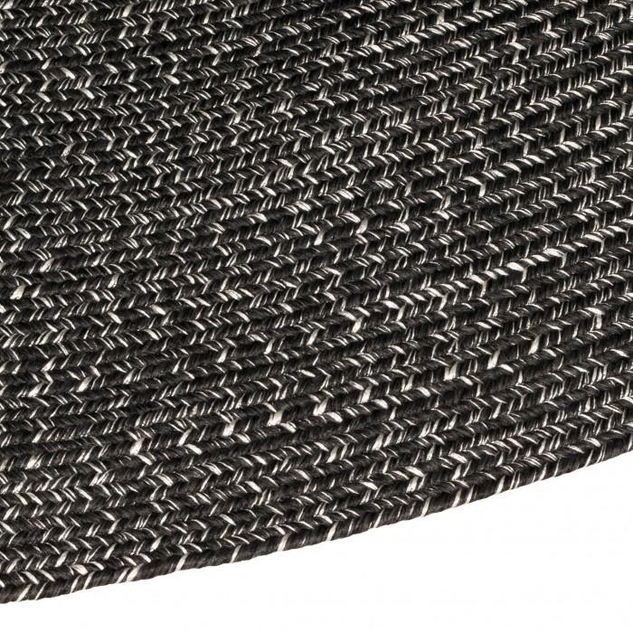 Seasons Stripe Handbraided Olefin Charcoal 240 Round