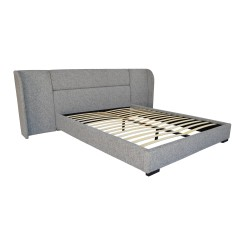 BAXTER BED - QUEEN 110H X 274W X 227L TEXTURED GREY