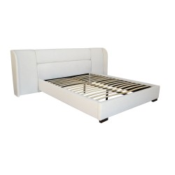 BAXTER BED - QUEEN 110H X 274W X 227L TEXTURED PEARL
