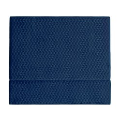COCO VELVET BED HEAD - QUEEN 140H X 160W FRENCH NAVY