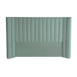 LULU VELVET BED HEAD - KING 147H X 255W AQUA