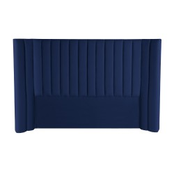 LULU VELVET BED HEAD - KING 147H X 255W NAVY