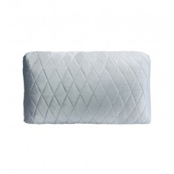 COCO QUILTED (ONE SIDE) VELVET CUSHION - DIAMOND STITCH (FEATHER FILL) 35 x 55 BLUE GREY