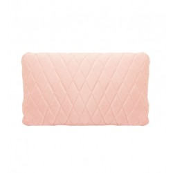 COCO QUILTED (ONE SIDE) VELVET CUSHION - DIAMOND STITCH (FEATHER FILL) 35 x 55 BABY PINK