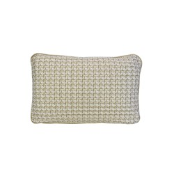 COCO PIPED VELVET CUSHIONS - SELF TRIM (FEATHER FILL) 35 x 55 IVORY TWEED