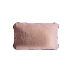 COCO PIPED VELVET CUSHIONS - SELF TRIM (FEATHER FILL) 35 x 55 VINTAGE ROSE