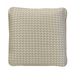 COCO PIPED VELVET CUSHIONS - SELF TRIM (FEATHER FILL) 55 x 55 IVORY TWEED