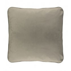 COCO PIPED VELVET CUSHIONS - SELF TRIM (FEATHER FILL) 55 x 55 NOUGAT