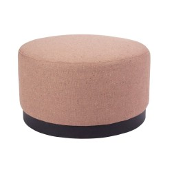 FABRIC OTTOMAN - DARK BASE - MEDIUM 35 H X 60 W X 60 D WOLI CLAY