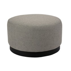 FABRIC OTTOMAN - DARK BASE - MEDIUM 35 H X 60 W X 60 D WOLI GREY