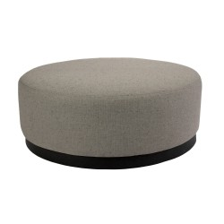 FABRIC OTTOMAN - DARK BASE - LARGE 35 H X 90 W X 90 D WOLI GREY