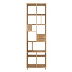Ethnicraft Oak Piruette book rack, 60/30/200-Ethnicraft