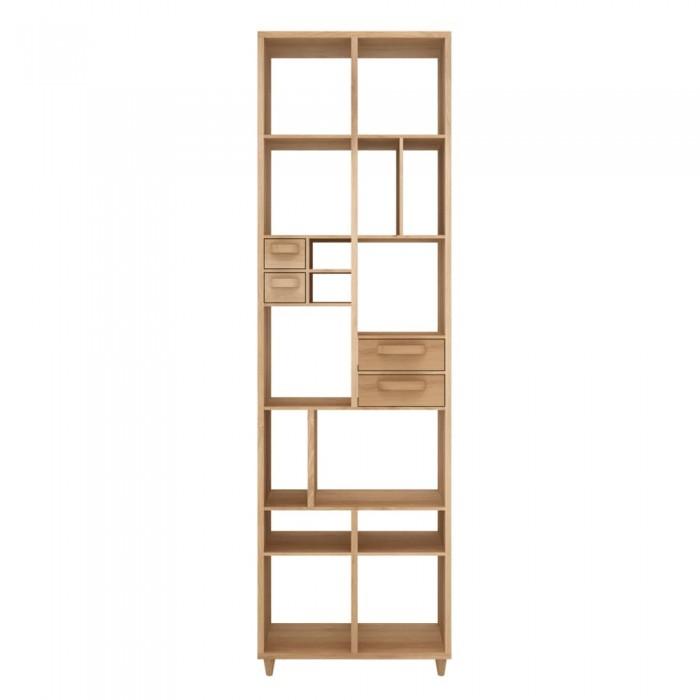 Ethnicraft Oak Piruette book rack, 60/30/200-45016
