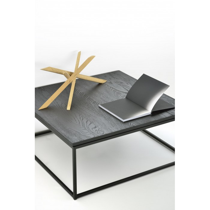 Ethnicraft Oak Thin coffee table – black-50520