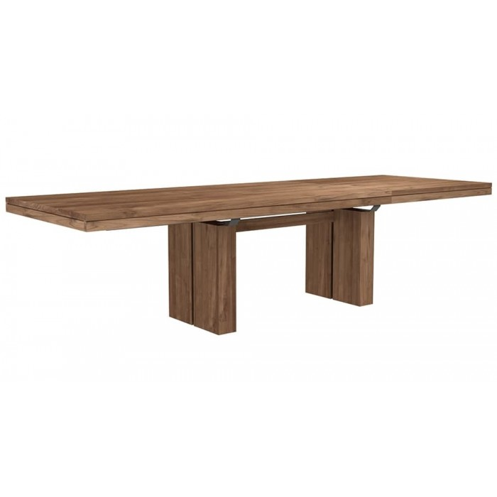 Ethnicraft Teak Double Extendable dining table 200-300/100/76-12066