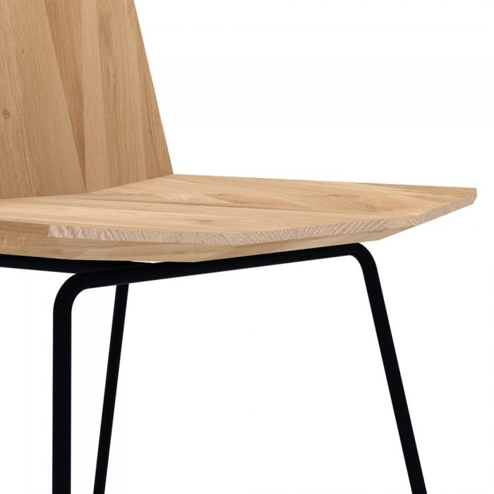 Ethnicraft Oak UP Facette dining chair black metal legs 43-27046