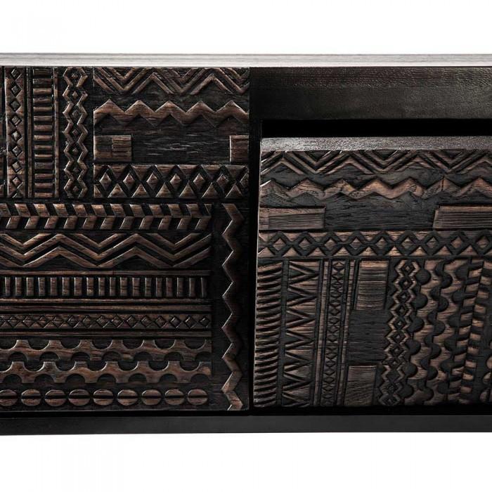 Ethnicraft  Ancestors Tabwa TV cupboard - 1 flip-down dr, 1 drw 160 Cm-12197