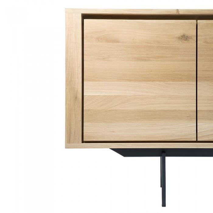 Ethnicraft Oak Shadow sideboard – black frame-51388