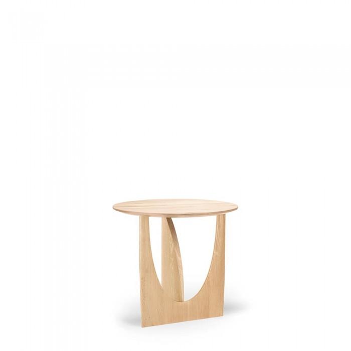 Oak Geometric side table-50537