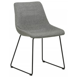 CHAIRS  Arnold Dining Chair Gery / Black  - Globewest