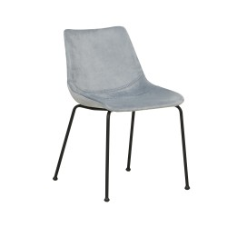 CHAIRS  Arnold Straight Leg Dining Chair Mineral Grey  - Globewest