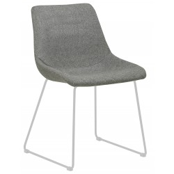 CHAIRS  Arnold Dining Chair  Grey / White