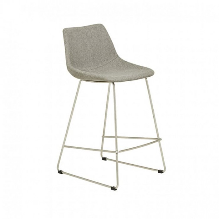 BAR STOOLS  Arnold Barstool  Grey / Stainless Steel-BS-ARNOLD-SS/GYSP