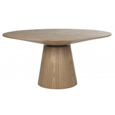 Globe west Classique Round Dining Tables 1200 Natural Ash-Globe West