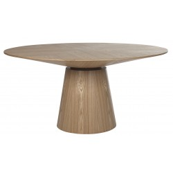 Globe west Classique Round Dining Tables 1500 Natural Ash