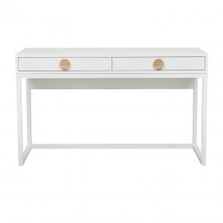 Benjamin Desk white Ash / Natural Ash  W1300 x D550 X H770mm   - Globewest-GlobeWest