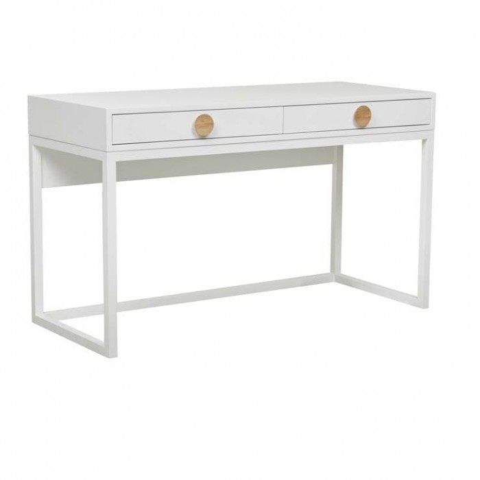 Benjamin Desk white Ash / Natural Ash  W1300 x D550 X H770mm   - Globewest-DESK-BEN-WHA/NA