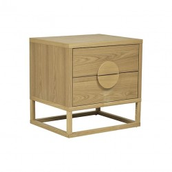 Benjamin Bedside Natural Ash W550 x D450 X H550mm   - Globewest