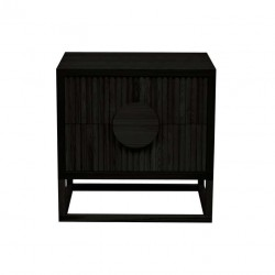 Benjamin Ripple Bedside - Matt Black - Globewest
