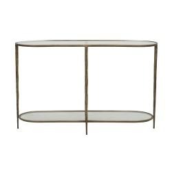 Amelie Oval Console- Antique Brass 125cm  - Globewest