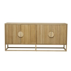 Benjamin Ripple Buffet - Natural Ash 180cm-GlobeWest