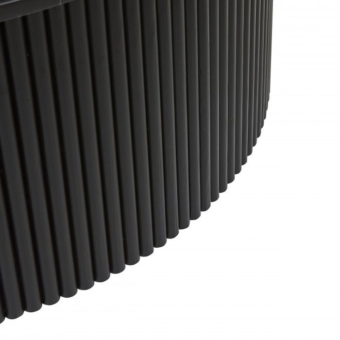 Benjamin Ripple Marble Coffee Table 100cm -Matt Black / Black Marble-CTO-BEN-RIP-MBK/MTBK