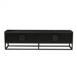 Benjamin Ripple Entertainment Unit - Matt Black 180cm  - Globewest