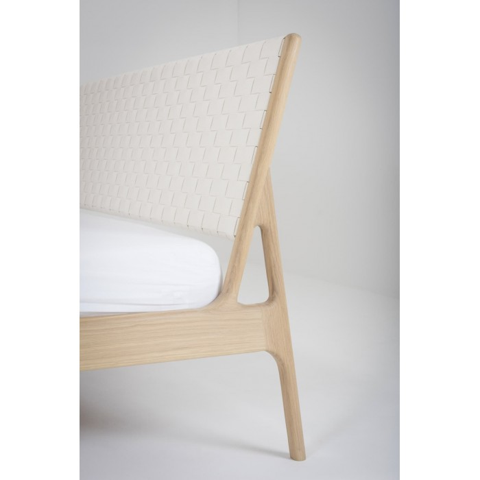 Fawn bed Queen Cotton webbing - White By Gazzda