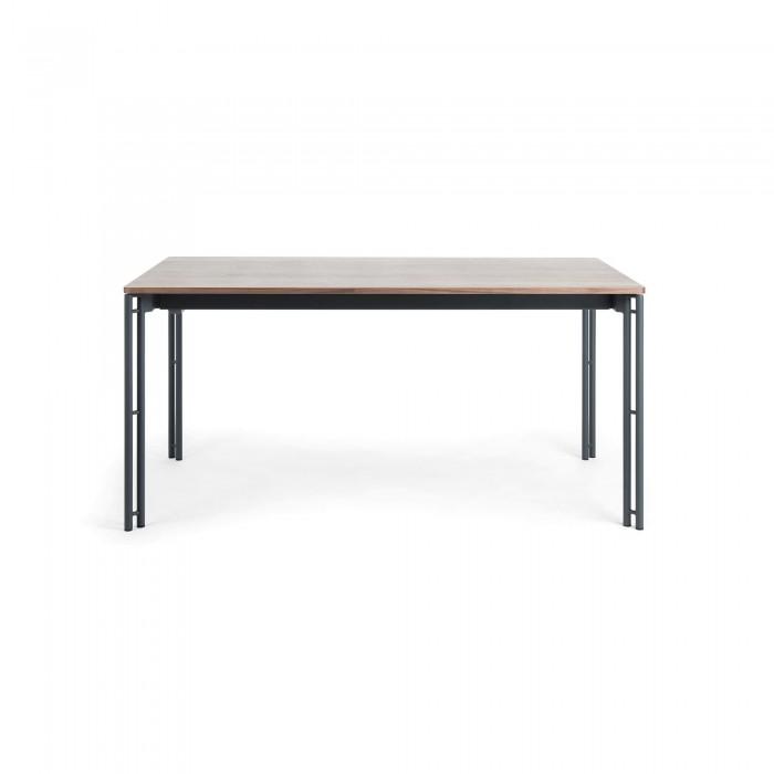 MAHON Table 160(220)x90 graphite, walnut veneer-MH009M09