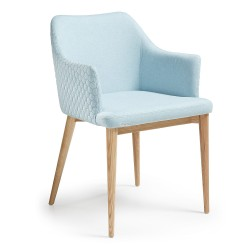 Danny - armchair - Quilted Light Blue fabric