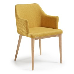 Danny - armchair Quilted Mustard fabric.