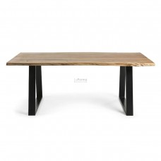 Industrial Natural Solid wattle timber Dining Table Table 200-La Forma