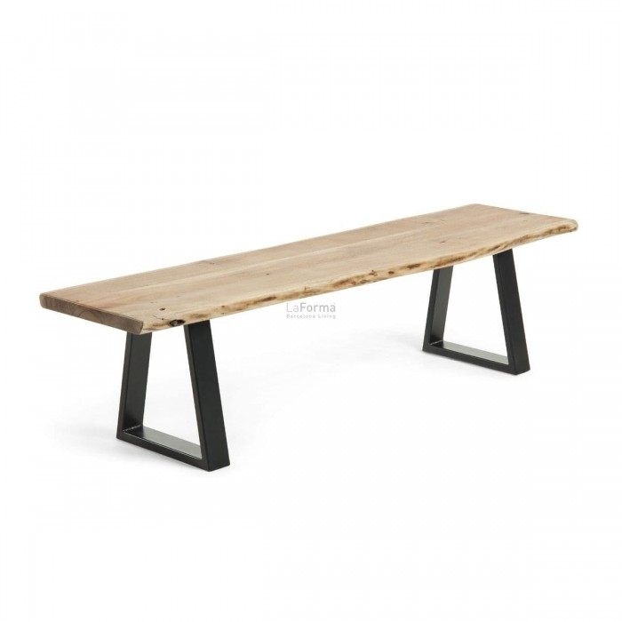 Industrial Natural Solid wattle timber Dining Bench 180-La Forma