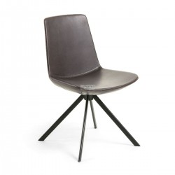 Zo- Dining Chair Brown synthetic Leather