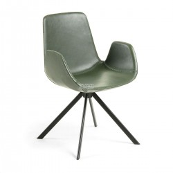 Quattro armchair Green synthetic leather