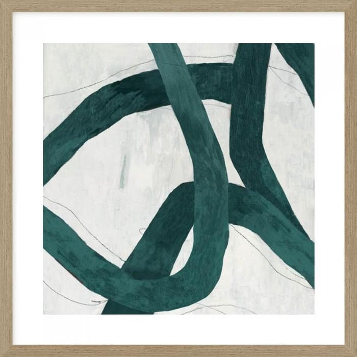 Green Bow I 126x126cm